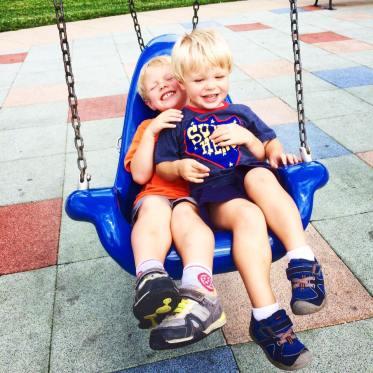 boys in swing
